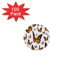 Butterfly Spoonflower 1  Mini Buttons (100 pack)