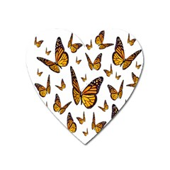 Butterfly Spoonflower Heart Magnet