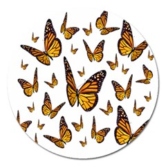 Butterfly Spoonflower Magnet 5  (Round)