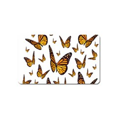 Butterfly Spoonflower Magnet (Name Card)