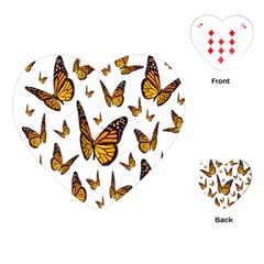 Butterfly Spoonflower Playing Cards (Heart)