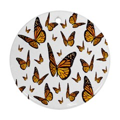 Butterfly Spoonflower Round Ornament (Two Sides)
