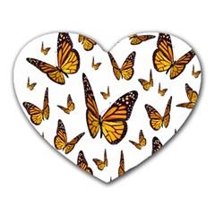 Butterfly Spoonflower Heart Mousepads