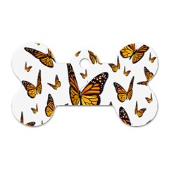 Butterfly Spoonflower Dog Tag Bone (Two Sides)