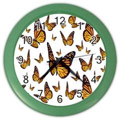 Butterfly Spoonflower Color Wall Clocks