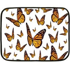 Butterfly Spoonflower Double Sided Fleece Blanket (Mini)