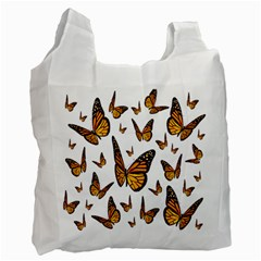 Butterfly Spoonflower Recycle Bag (two Side)