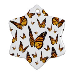 Butterfly Spoonflower Snowflake Ornament (Two Sides)
