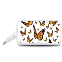 Butterfly Spoonflower Portable Speaker (White)