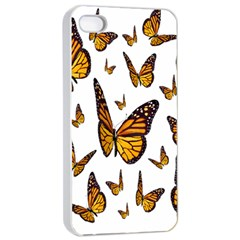 Butterfly Spoonflower Apple iPhone 4/4s Seamless Case (White)