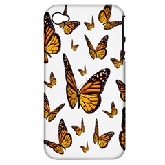 Butterfly Spoonflower Apple iPhone 4/4S Hardshell Case (PC+Silicone)