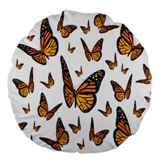 Butterfly Spoonflower Large 18  Premium Round Cushions