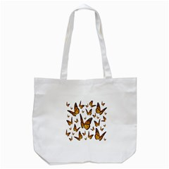 Butterfly Spoonflower Tote Bag (White)