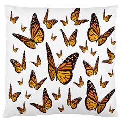 Butterfly Spoonflower Large Flano Cushion Case (two Sides)