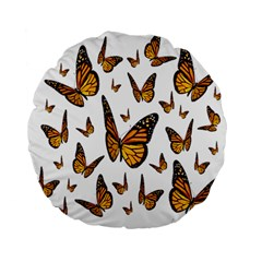 Butterfly Spoonflower Standard 15  Premium Flano Round Cushions
