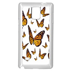 Butterfly Spoonflower Samsung Galaxy Note 4 Case (White)