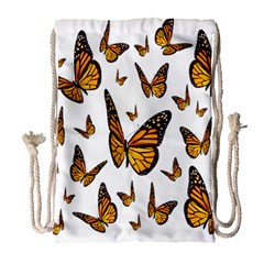 Butterfly Spoonflower Drawstring Bag (Large)