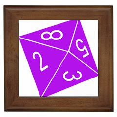 Number Purple Framed Tiles