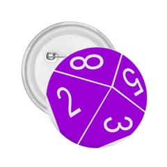 Number Purple 2 25  Buttons