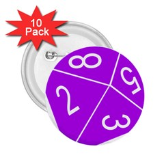 Number Purple 2.25  Buttons (10 pack)