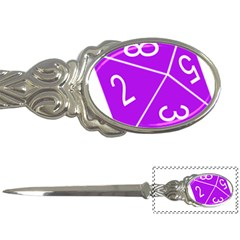 Number Purple Letter Openers