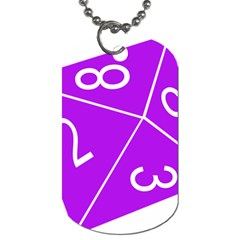 Number Purple Dog Tag (One Side)