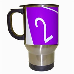 Number Purple Travel Mugs (White)