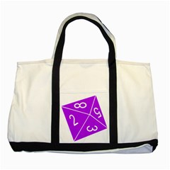 Number Purple Two Tone Tote Bag