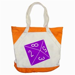 Number Purple Accent Tote Bag