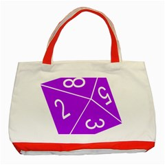 Number Purple Classic Tote Bag (Red)