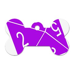 Number Purple Dog Tag Bone (Two Sides)