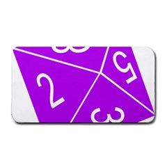 Number Purple Medium Bar Mats
