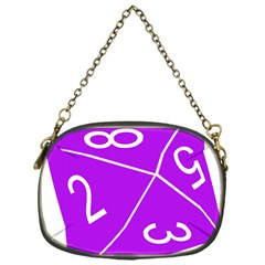 Number Purple Chain Purses (One Side)