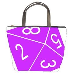 Number Purple Bucket Bags