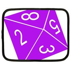 Number Purple Netbook Case (XXL)