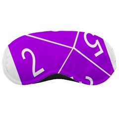 Number Purple Sleeping Masks