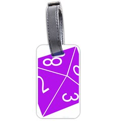 Number Purple Luggage Tags (one Side)