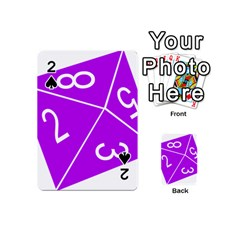 Number Purple Playing Cards 54 (Mini)