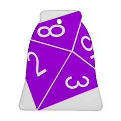 Number Purple Ornament (Bell)