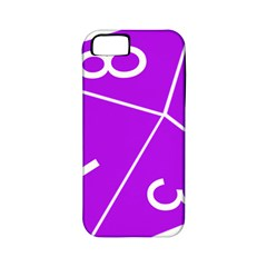 Number Purple Apple iPhone 5 Classic Hardshell Case (PC+Silicone)