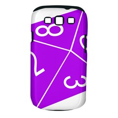 Number Purple Samsung Galaxy S III Classic Hardshell Case (PC+Silicone)