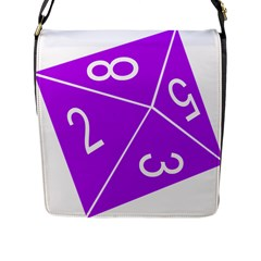 Number Purple Flap Messenger Bag (L)