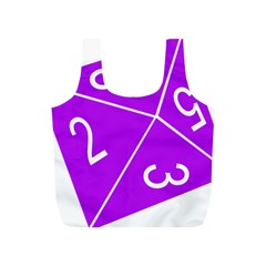 Number Purple Full Print Recycle Bags (S)