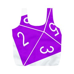 Number Purple Full Print Recycle Bags (M)