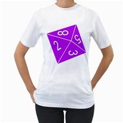 Number Purple Women s T-Shirt (White)