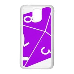 Number Purple Samsung Galaxy S5 Case (White)
