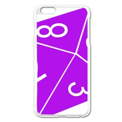 Number Purple Apple iPhone 6 Plus/6S Plus Enamel White Case
