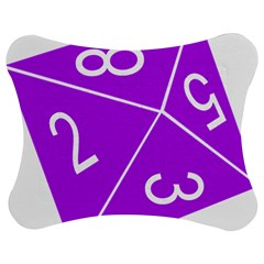 Number Purple Jigsaw Puzzle Photo Stand (Bow)