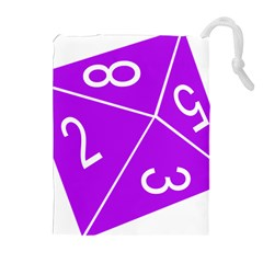 Number Purple Drawstring Pouches (extra Large)