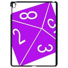 Number Purple Apple Ipad Pro 9 7   Black Seamless Case